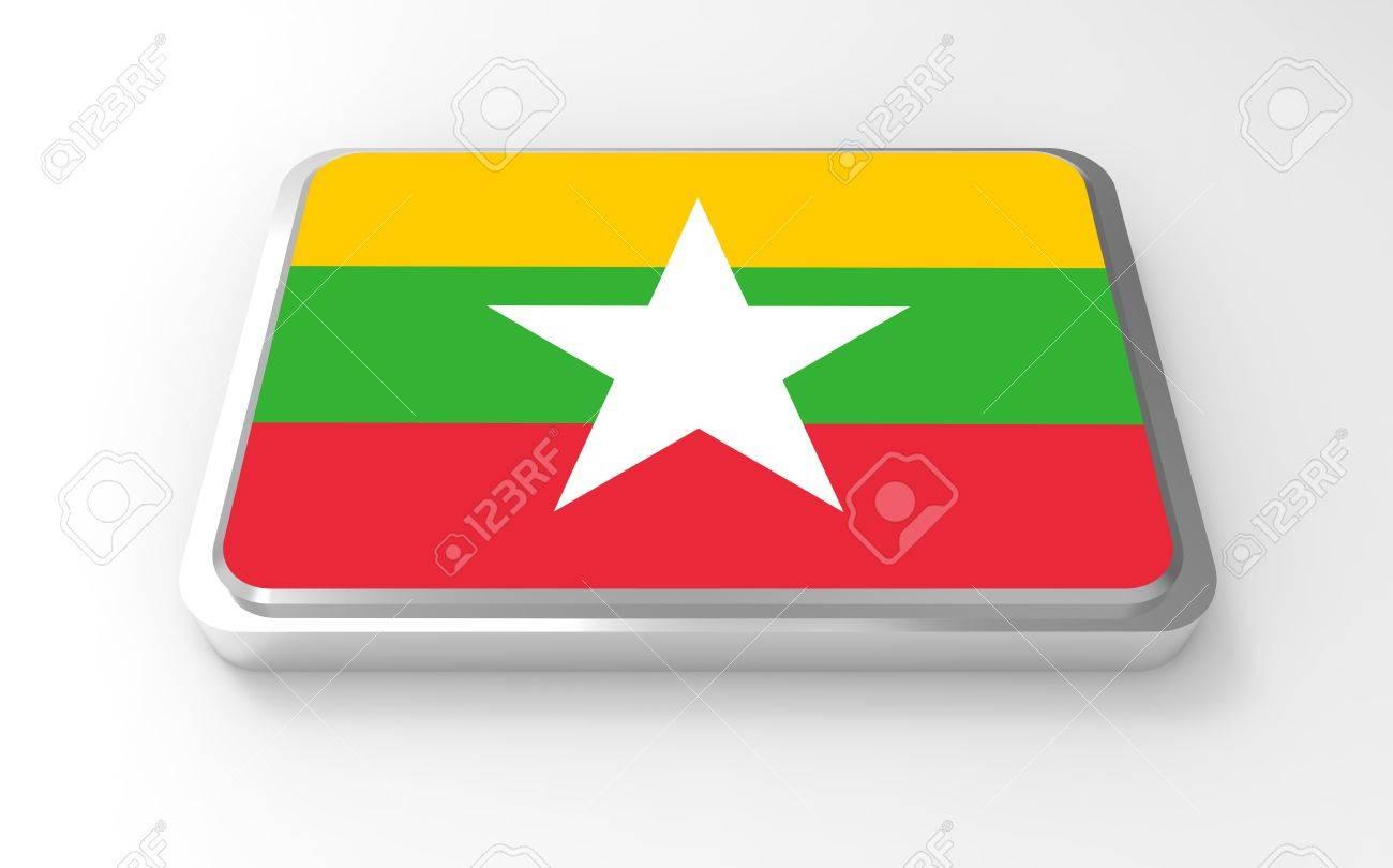 Myanmar flag 3D Stock Photo - 17047380