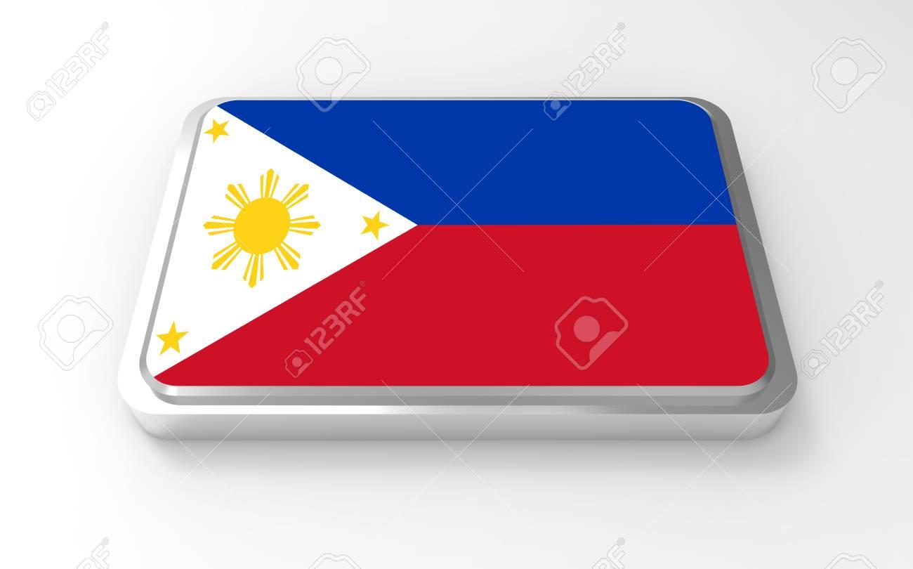 Philippines flag 3D Stock Photo - 17047381