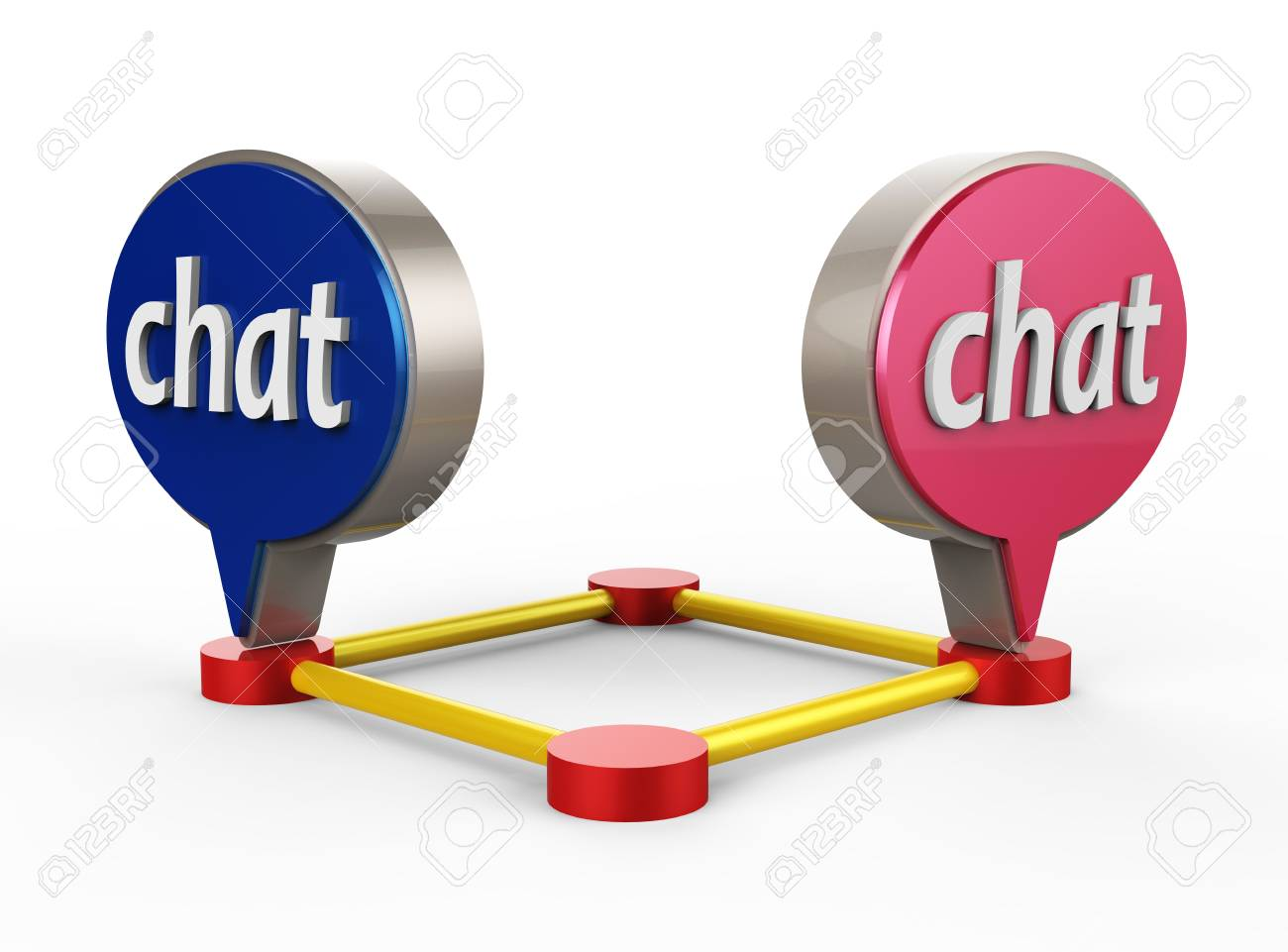 Chat Bubble Icon 3D Stock Photo - 17078158