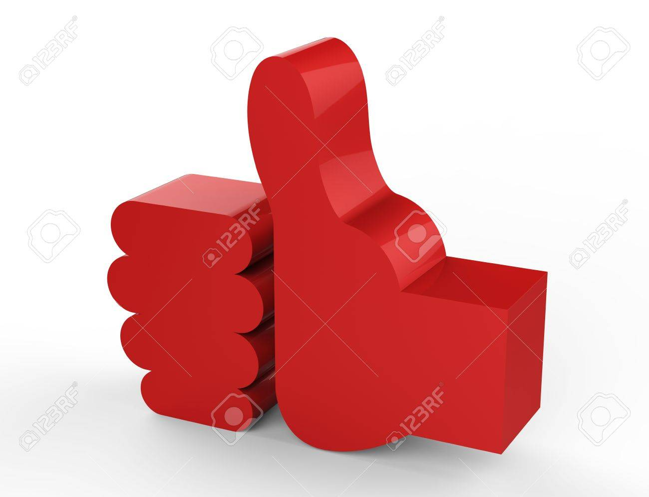like red 3D Stock Photo - 18101499