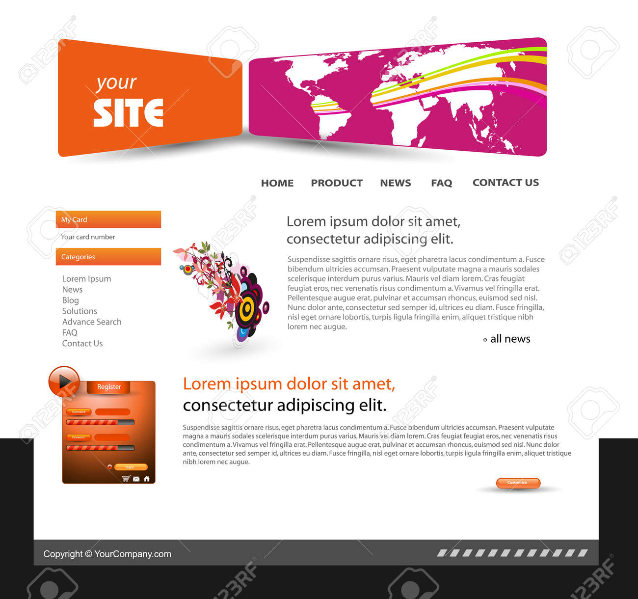 abstract web site design template Stock Vector - 11172488