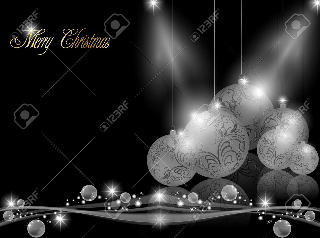 Elegant dark Christmas Background Stock Vector - 11367299