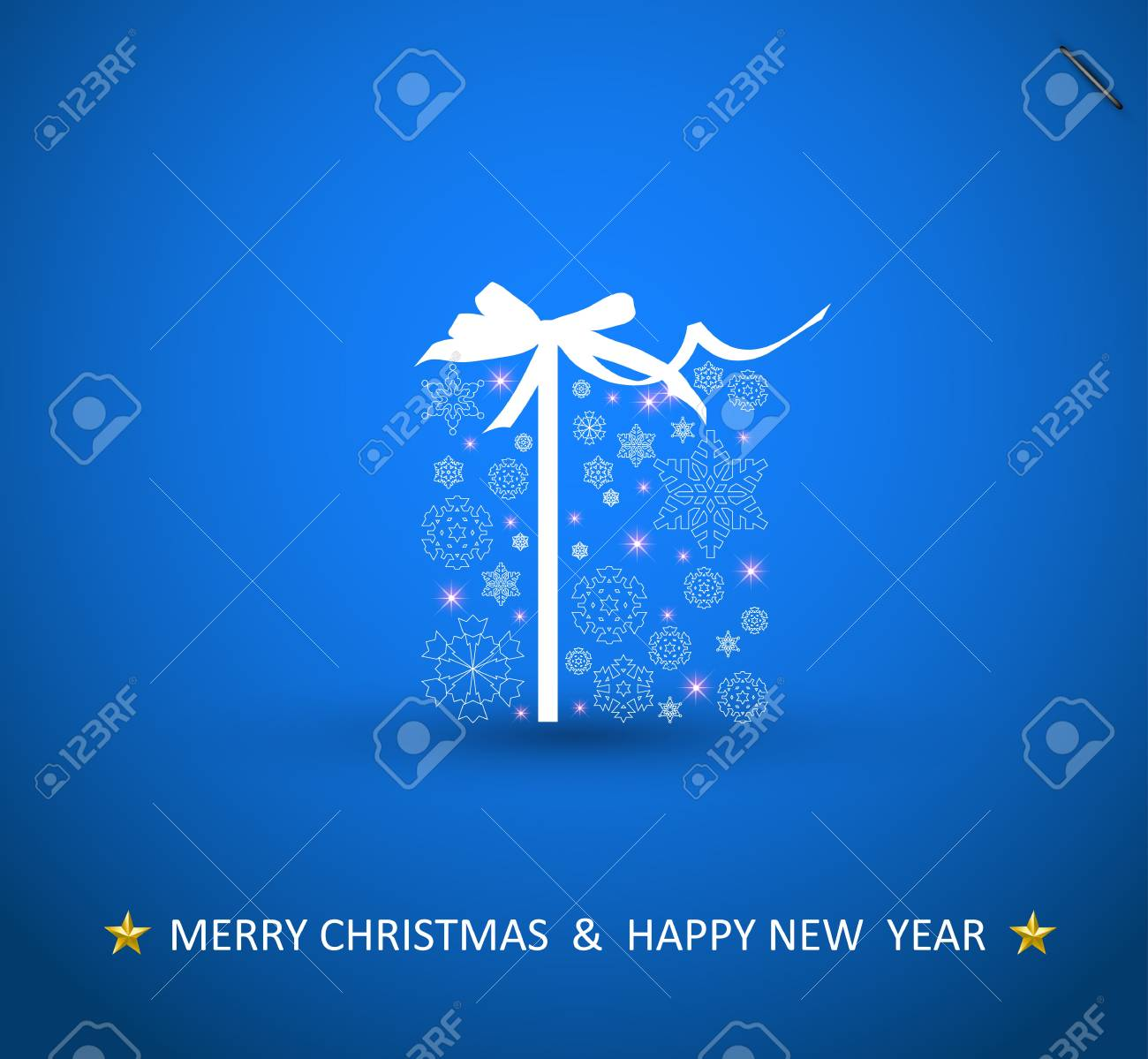 Christmas Box, snowflake design Stock Vector - 11595976