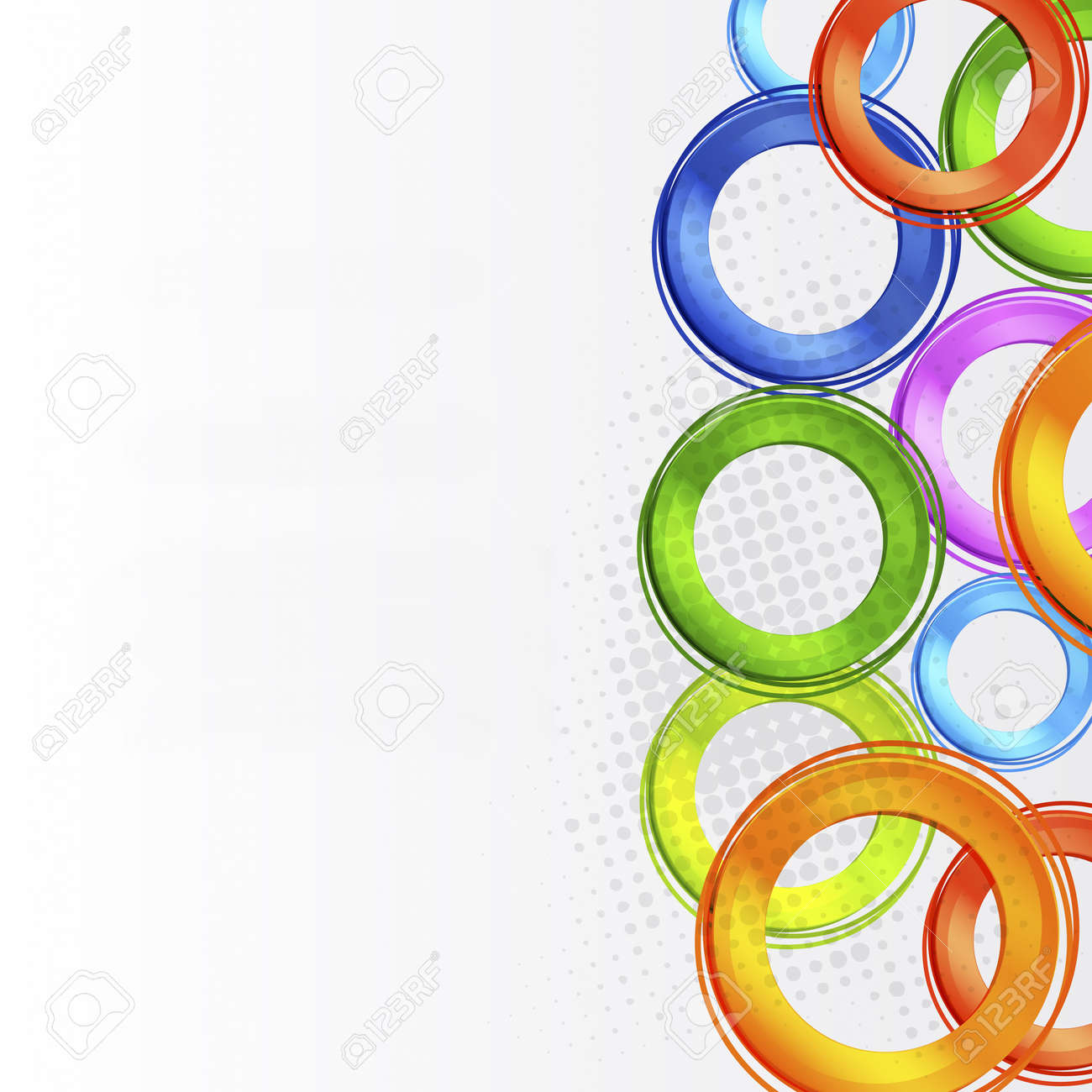 Abstract colorful circle design Stock Vector - 11968897