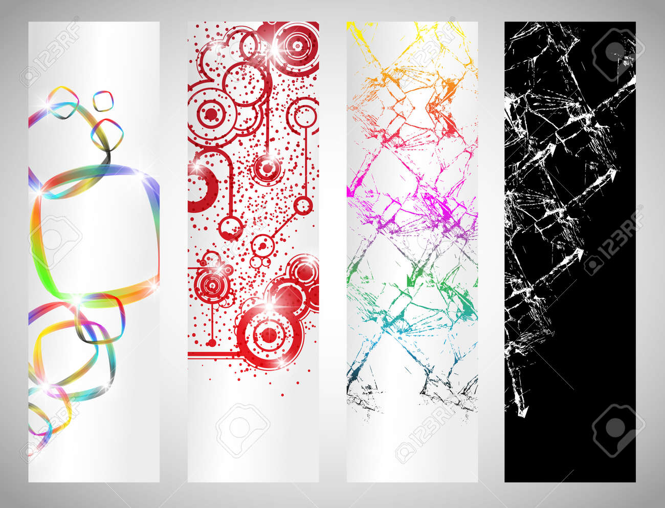 Set of abstract banners Stock Vector - 12061365