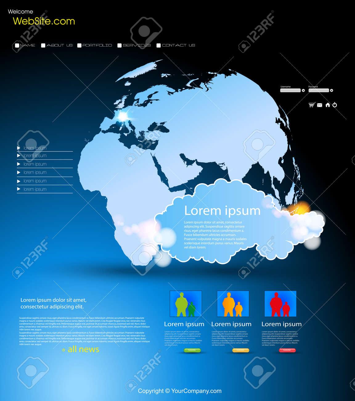 Website Design Template Stock Vector - 12061352