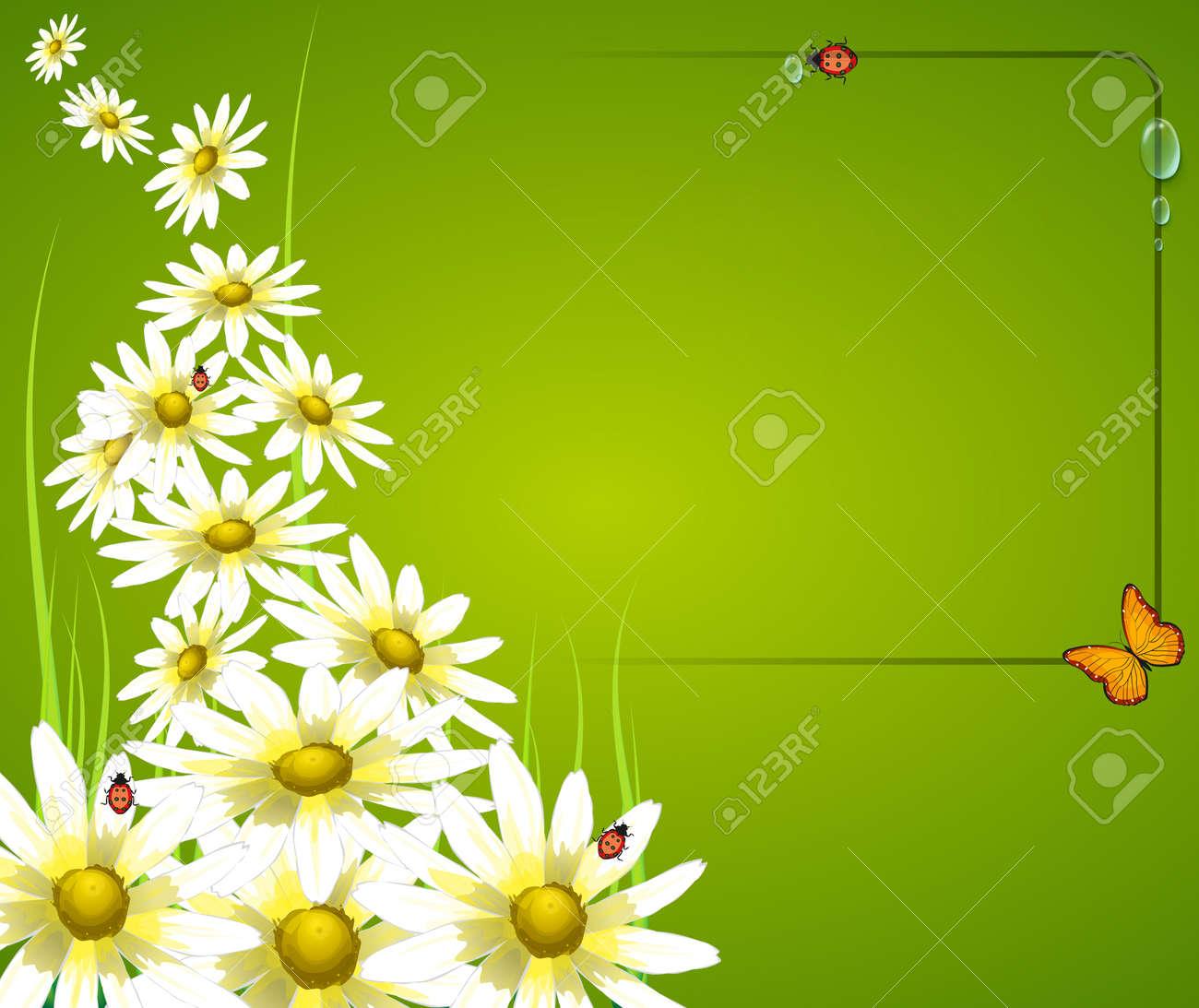 floral frame card background Stock Vector - 12413837