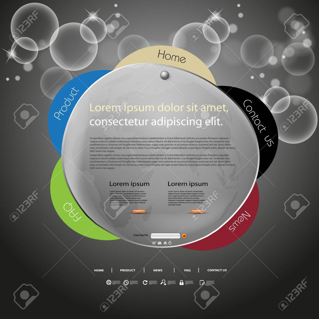 Abstract web site design color template Stock Vector - 12978649
