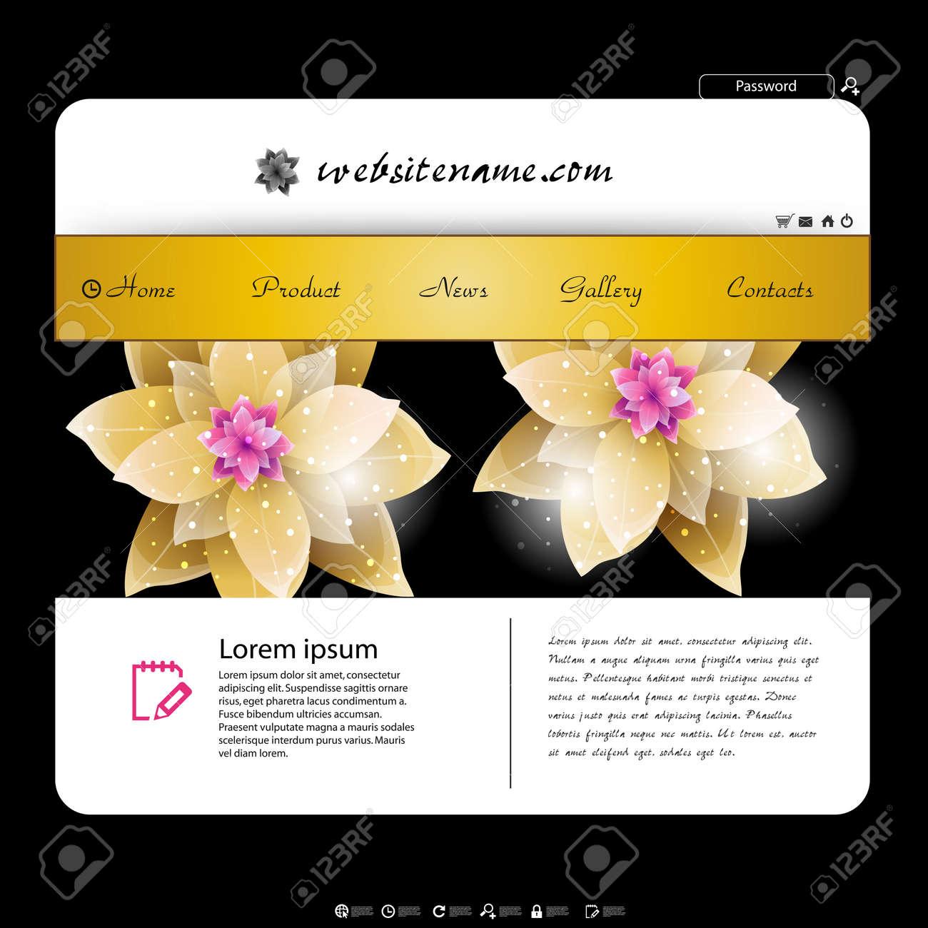 web site design template, flowers design Stock Vector - 17900755