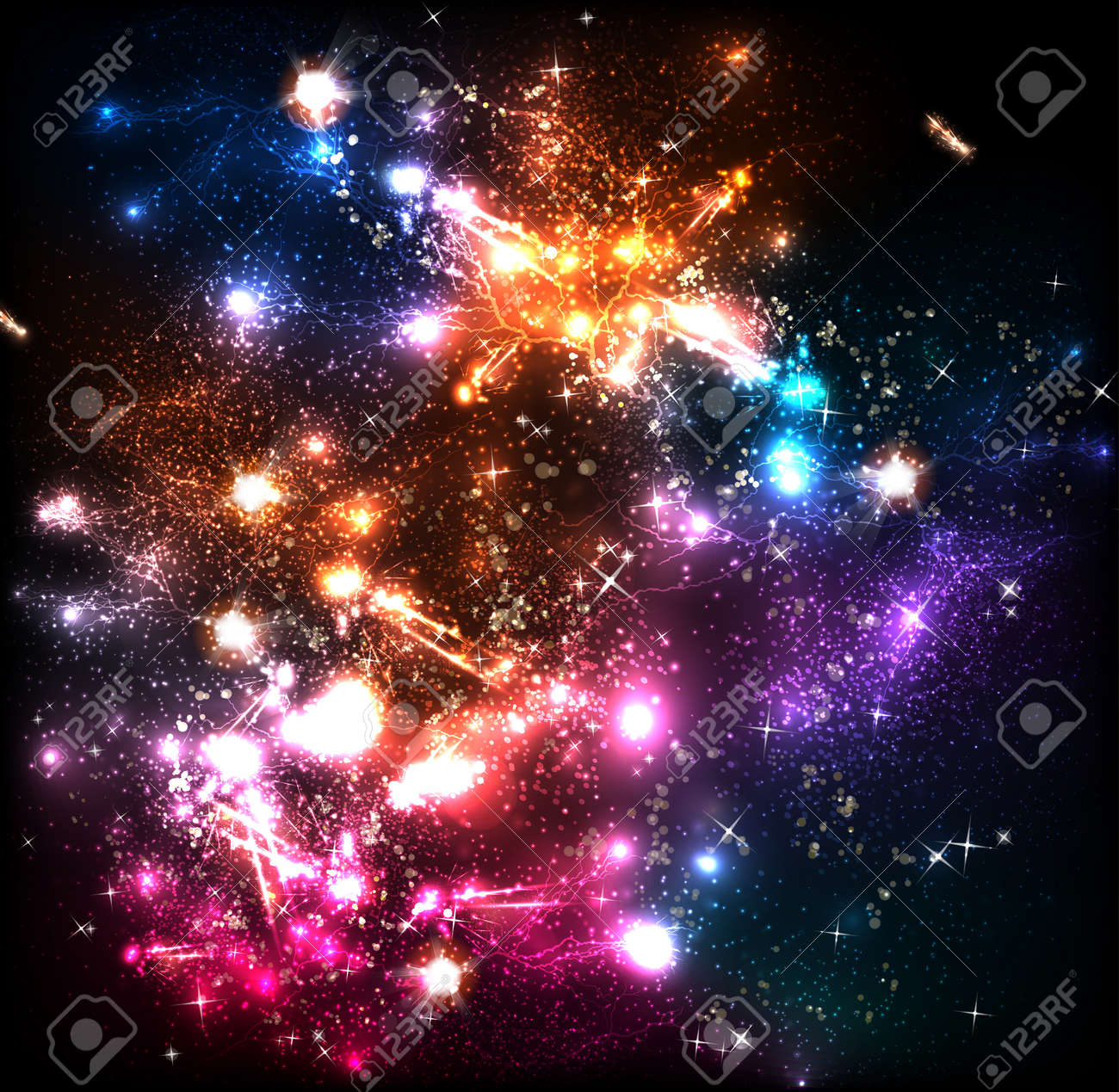 Space or lightning flash background, easy editable - 18531533
