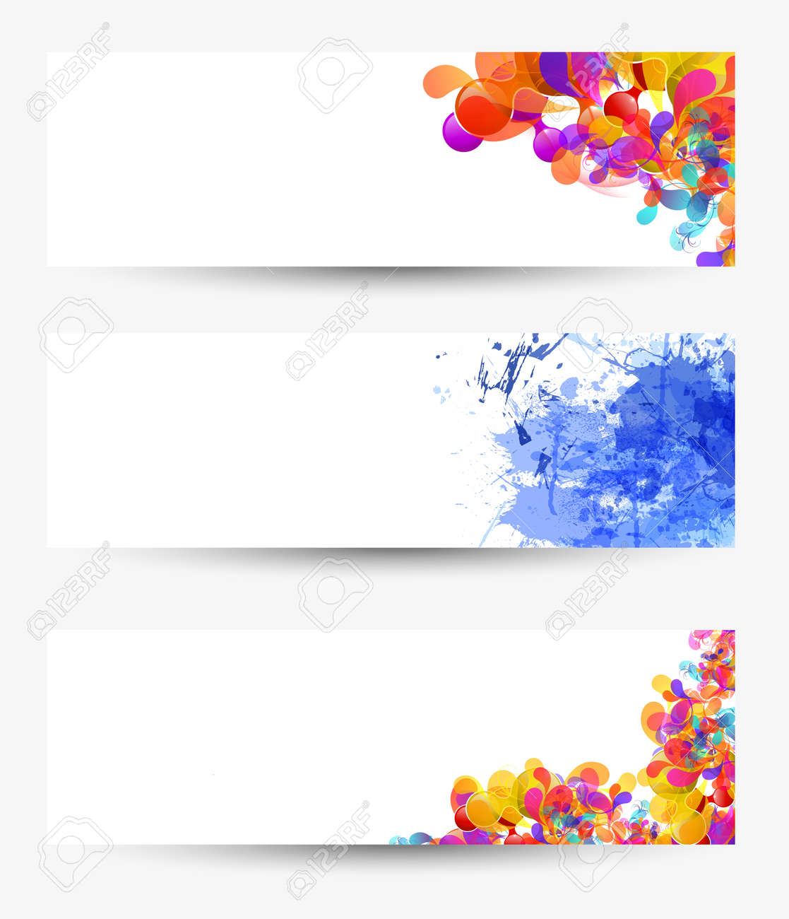 Paper set background Stock Vector - 20203938