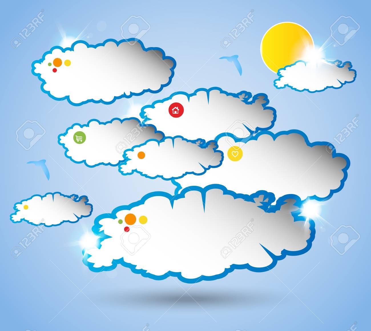 Abstract web design sky bubble Stock Vector - 20947120