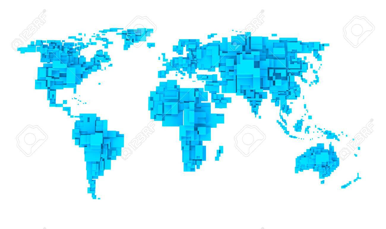 Cube World Map.World Map Cube Design Stock Photo Picture And Royalty Free Image