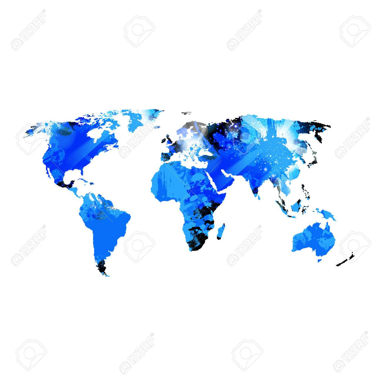 abstract template with world map easy editable royalty free