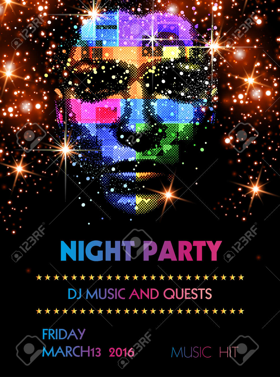 party flyer template easy all editable royalty free cliparts