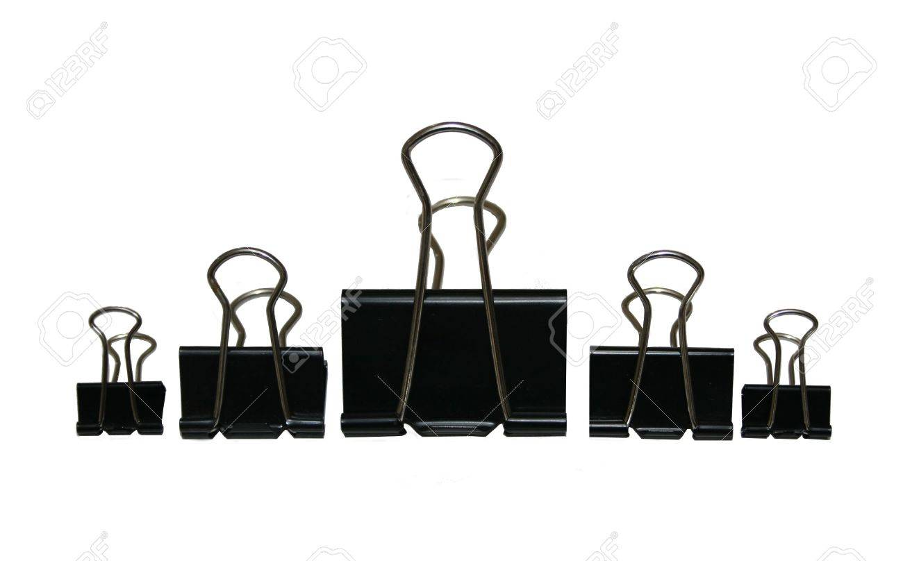 Clip Art Black Paper Clip an assortment of black binder or paper clips stock photo picture clips