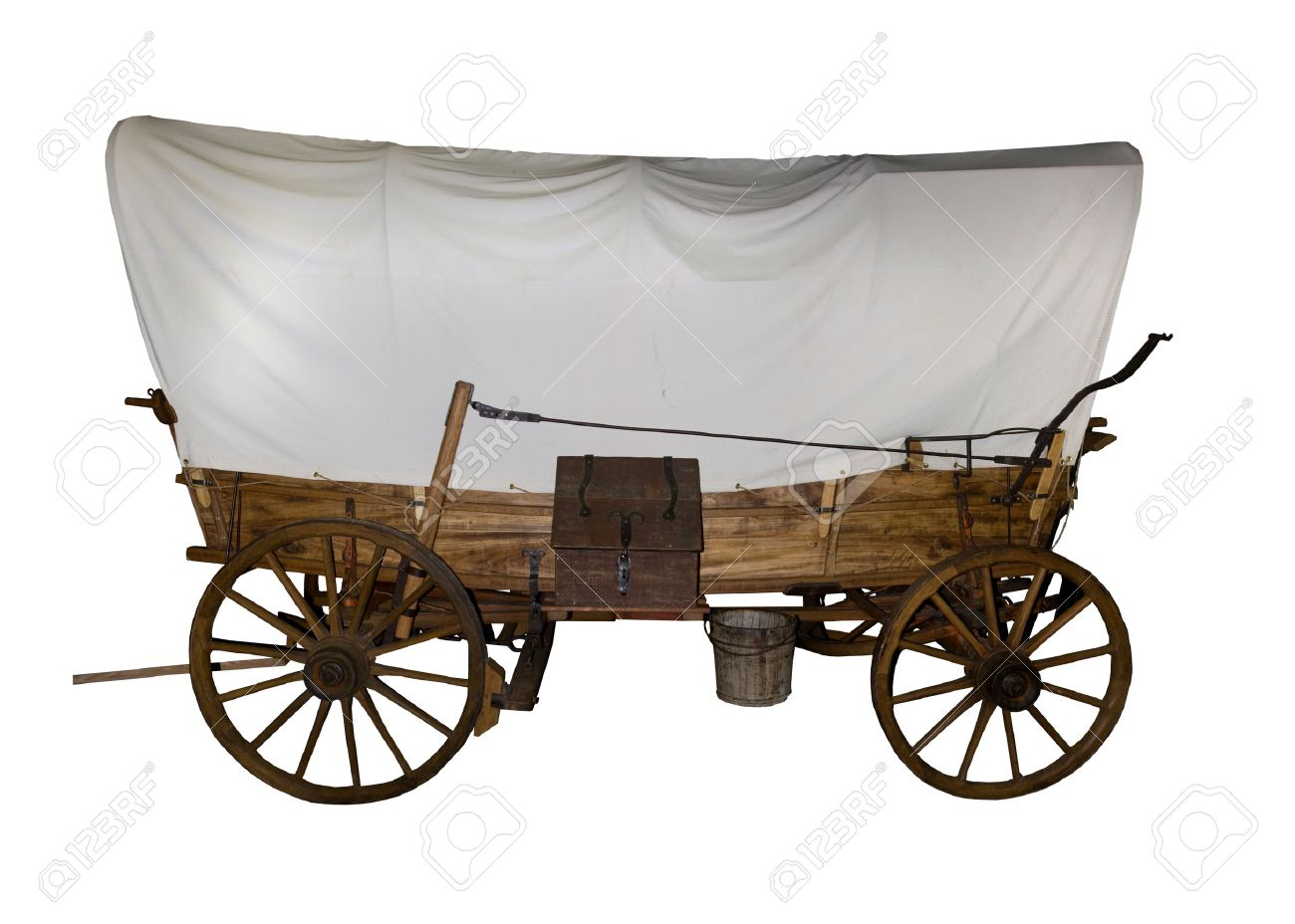 Oregon Trail Covered Wagon Used By The Pioneers Stock Photo, Picture ...