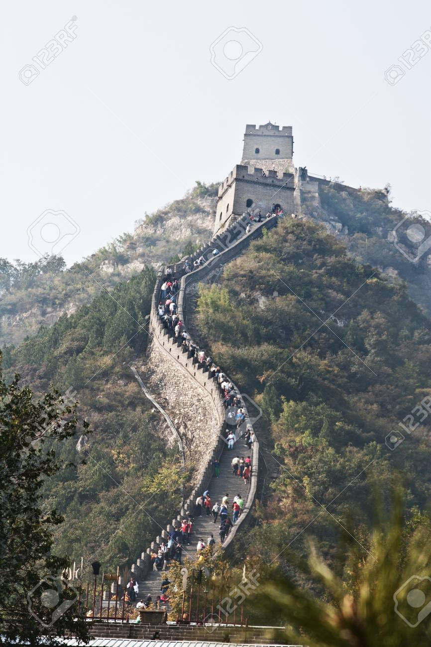 a portion of the Great Wall of China Stock Photo - 15939229