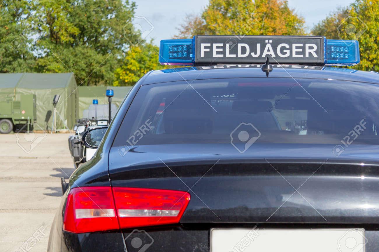 Blue Light Bar From A Civil Feldjaeger Military Police Car