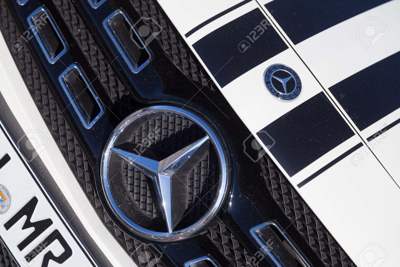 Fuerth Germany February 25 2018 Mercedes Benz Symbol On