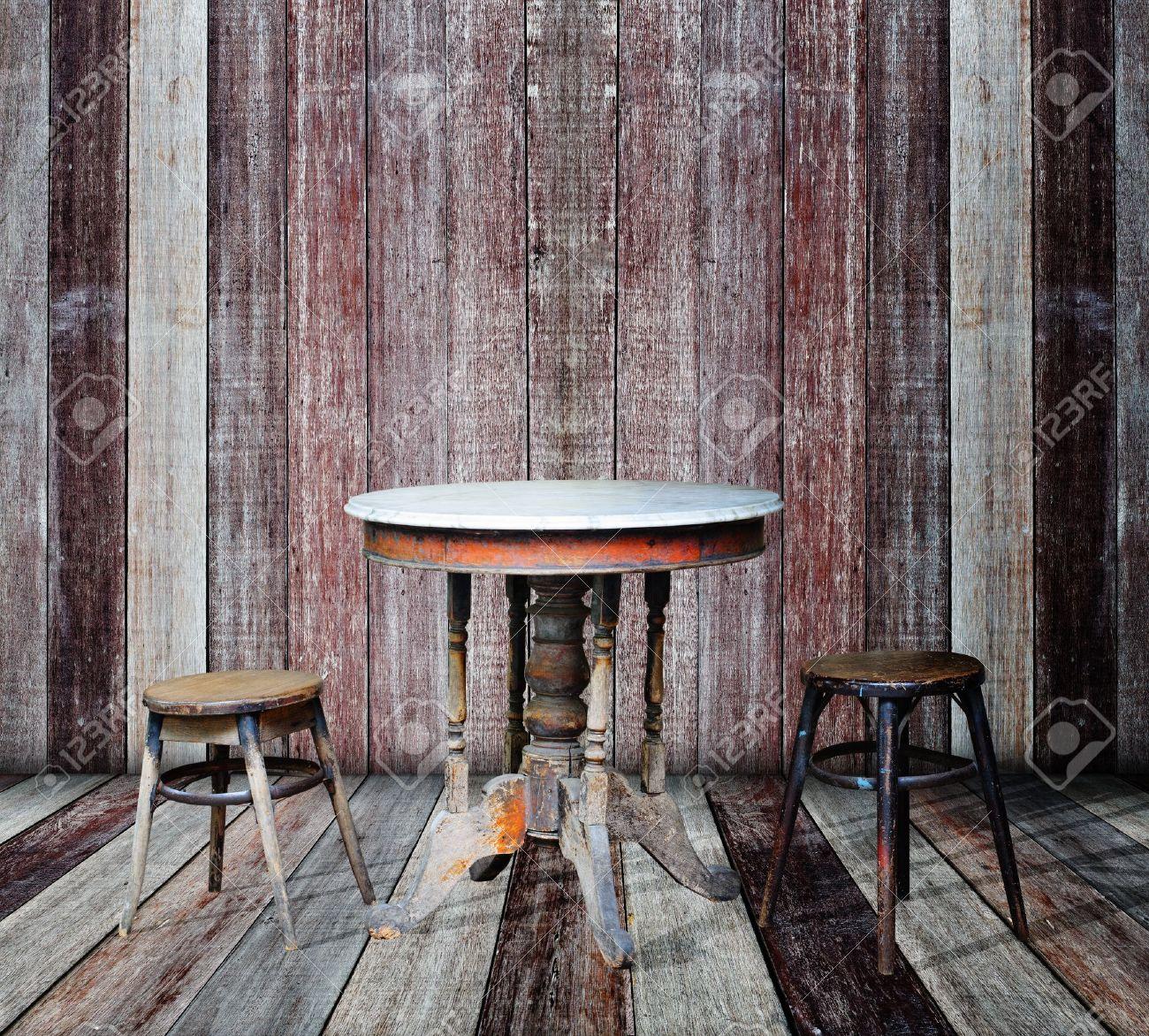 Furniture in vintage wood room Stock Photo - 14934261