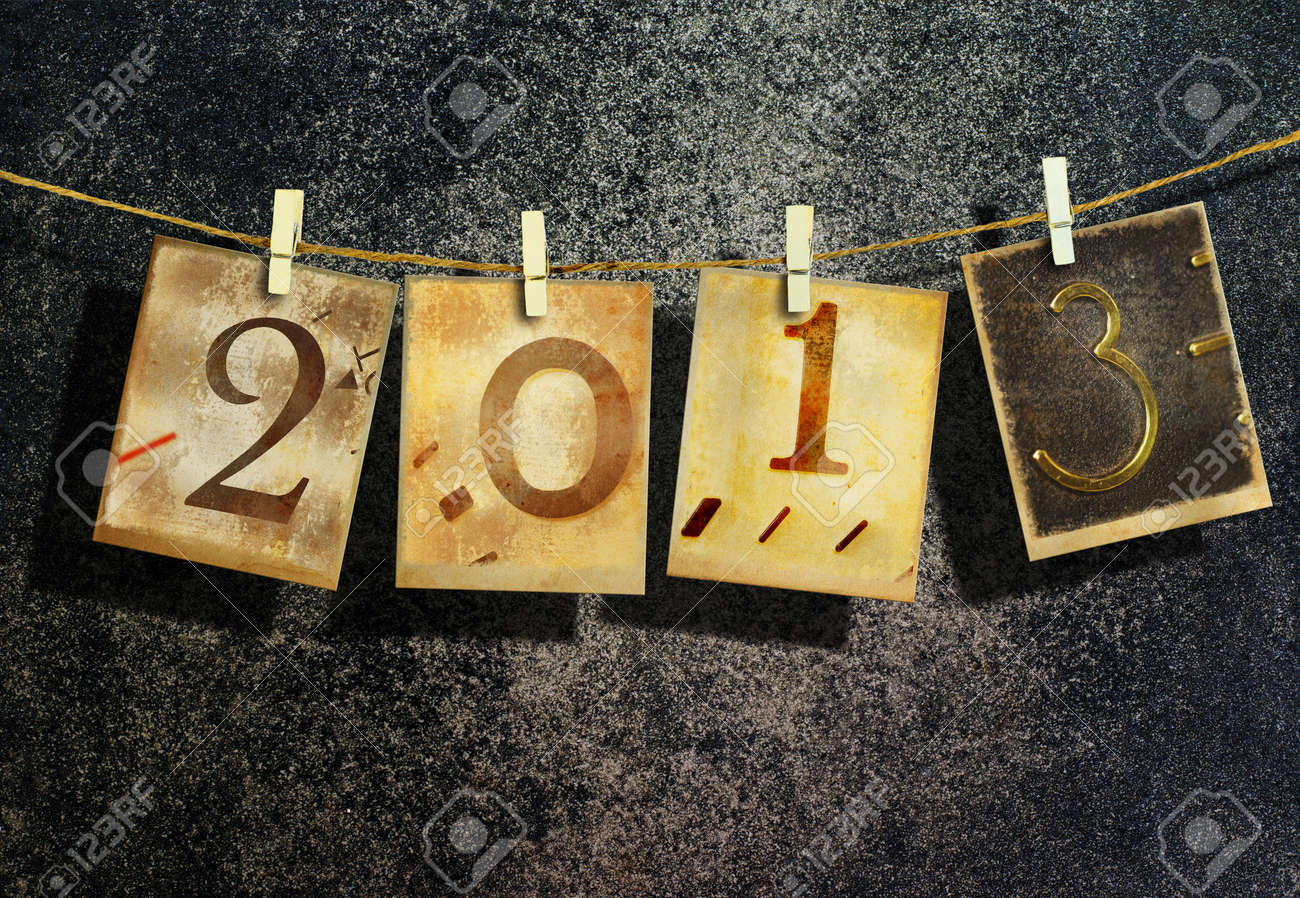 New year 2013 and christmas 2013 vintage style Stock Photo - 16462560