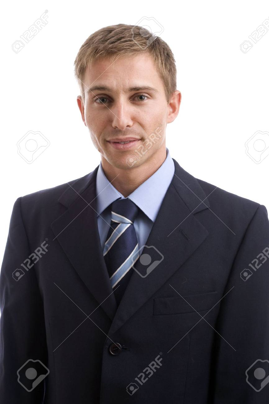 Portrait of young businessman - isolated in white background Stock Photo - 3693132