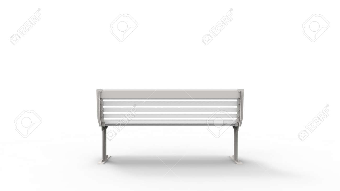 Cool 3D Rendering Of A White Outside Furniture Bench Isolated In White Andrewgaddart Wooden Chair Designs For Living Room Andrewgaddartcom