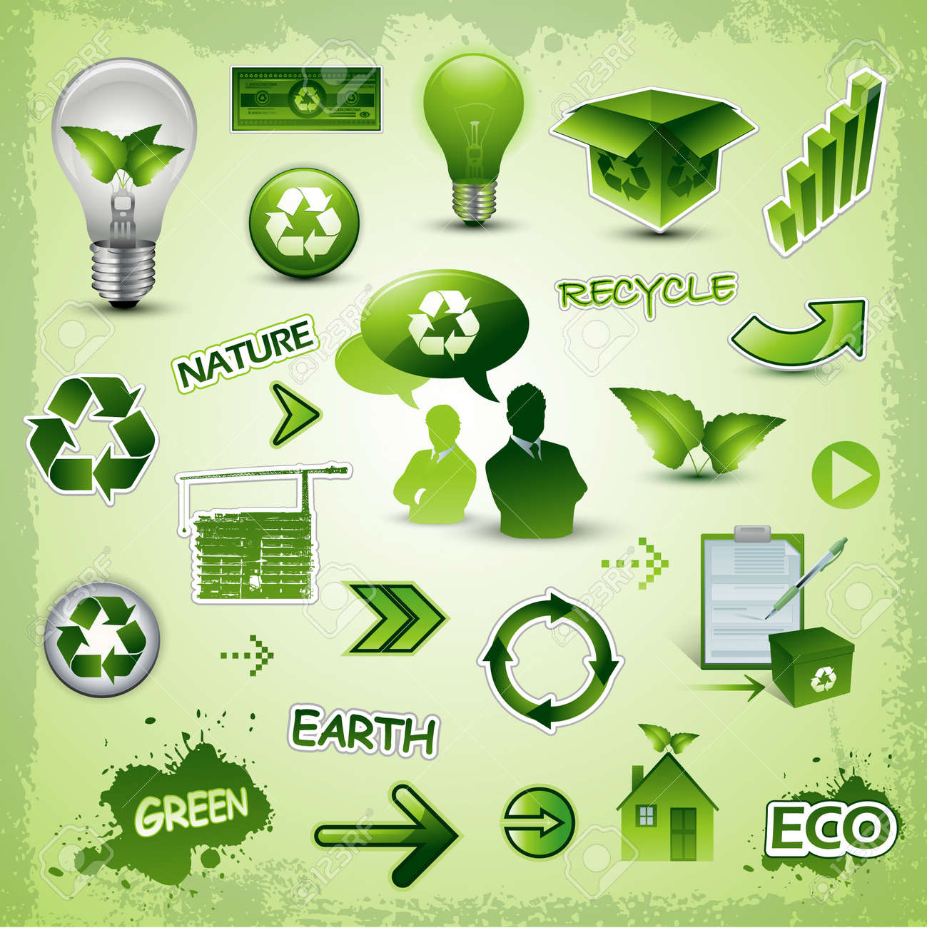 recycle and environment icons Stock Vector - 7842864