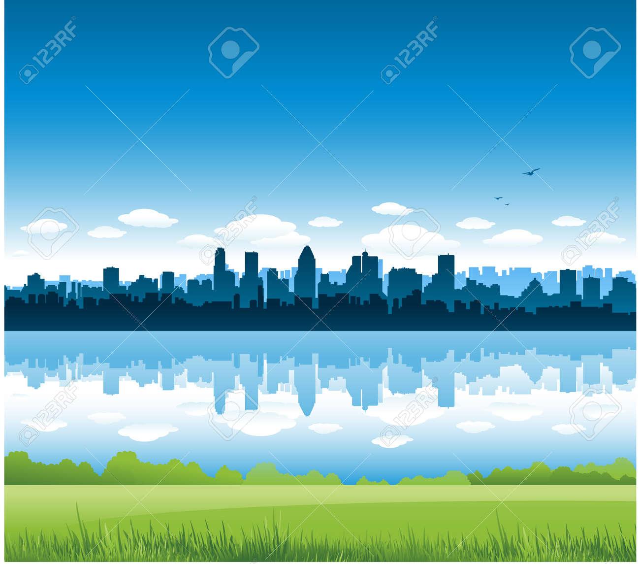 Montreal city landscape Stock Vector - 8601298