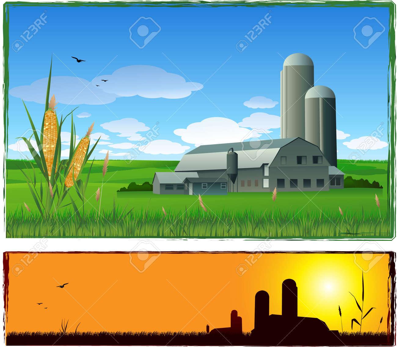 Farm illustration Stock Vector - 8630349