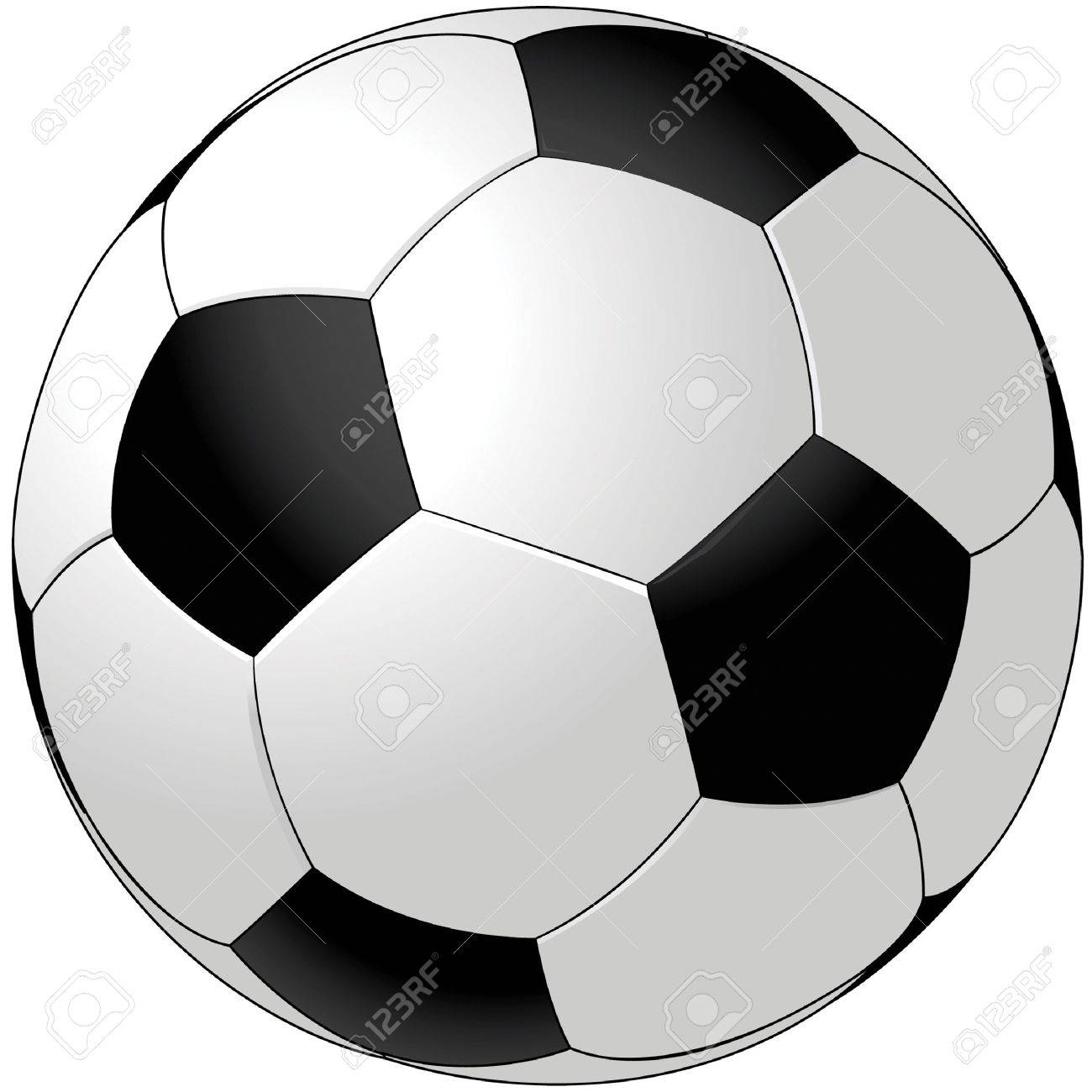 Vector soccer ball isolated on white Stock Vector - 8626931