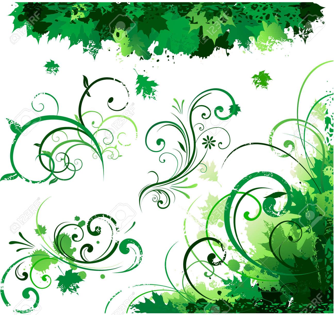 Spring floral corner Stock Vector - 8626974