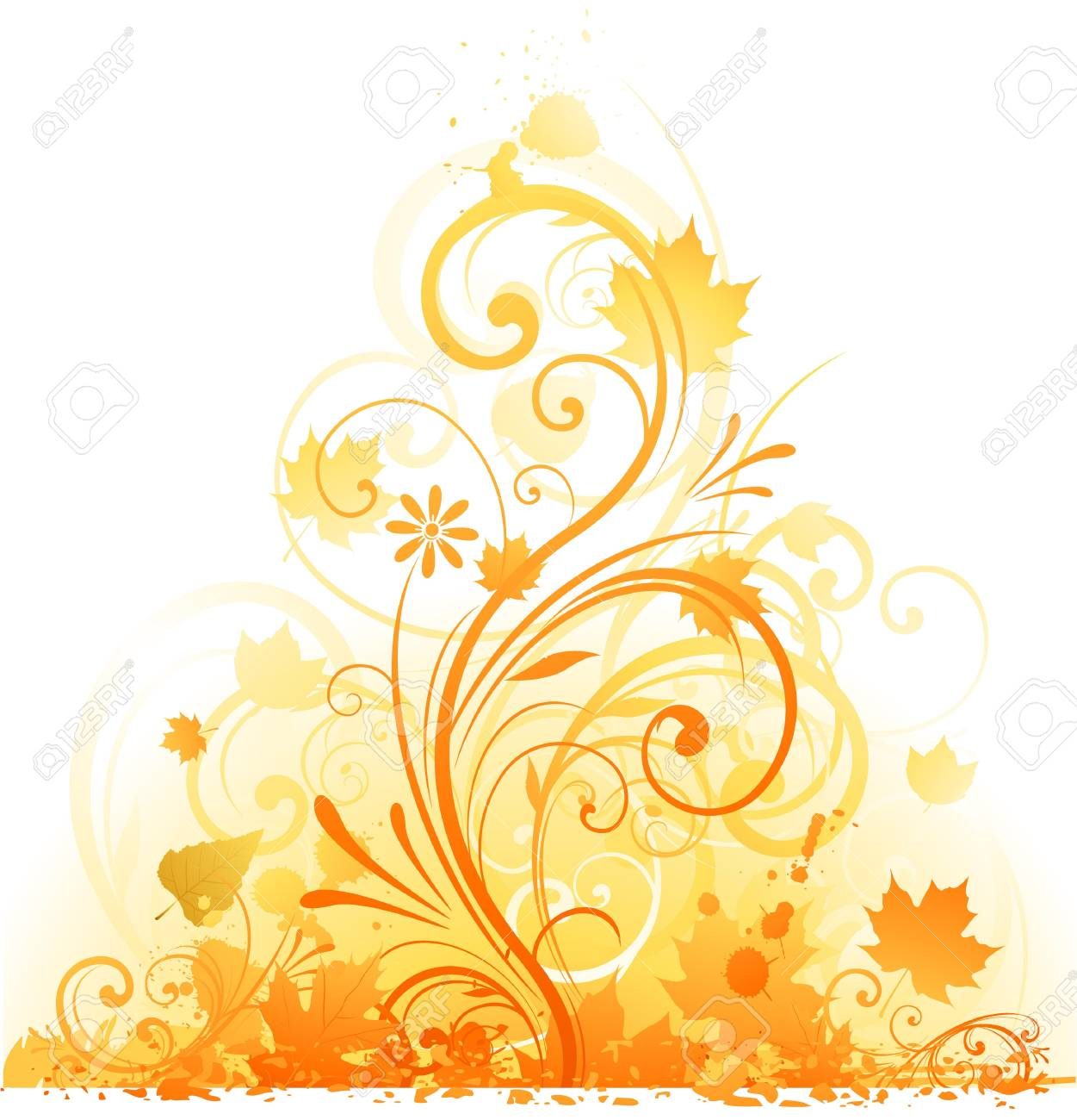 abstract autumn floral Stock Vector - 8666918