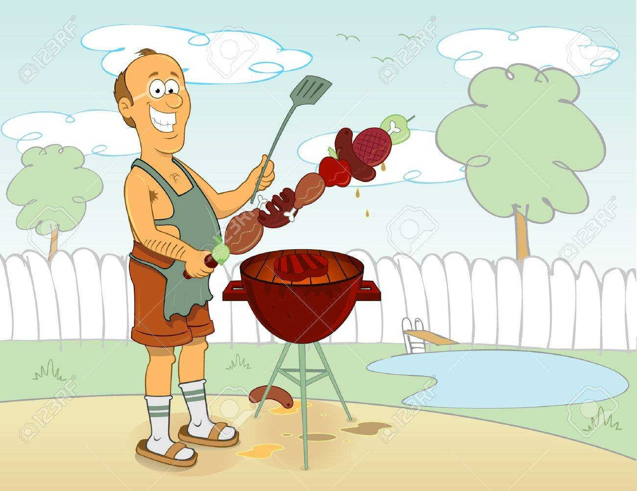 barbecue cook - 8666906