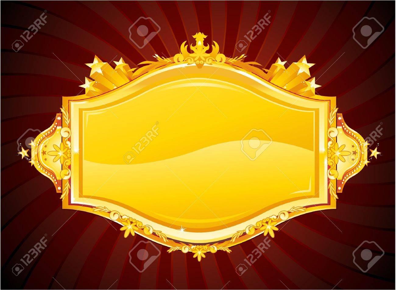 golden casino sign Stock Vector - 8667363