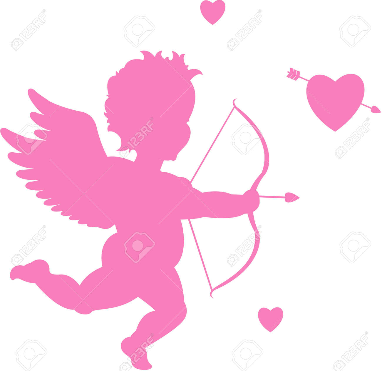 Cupid Silhouette Stock Vector   8667351