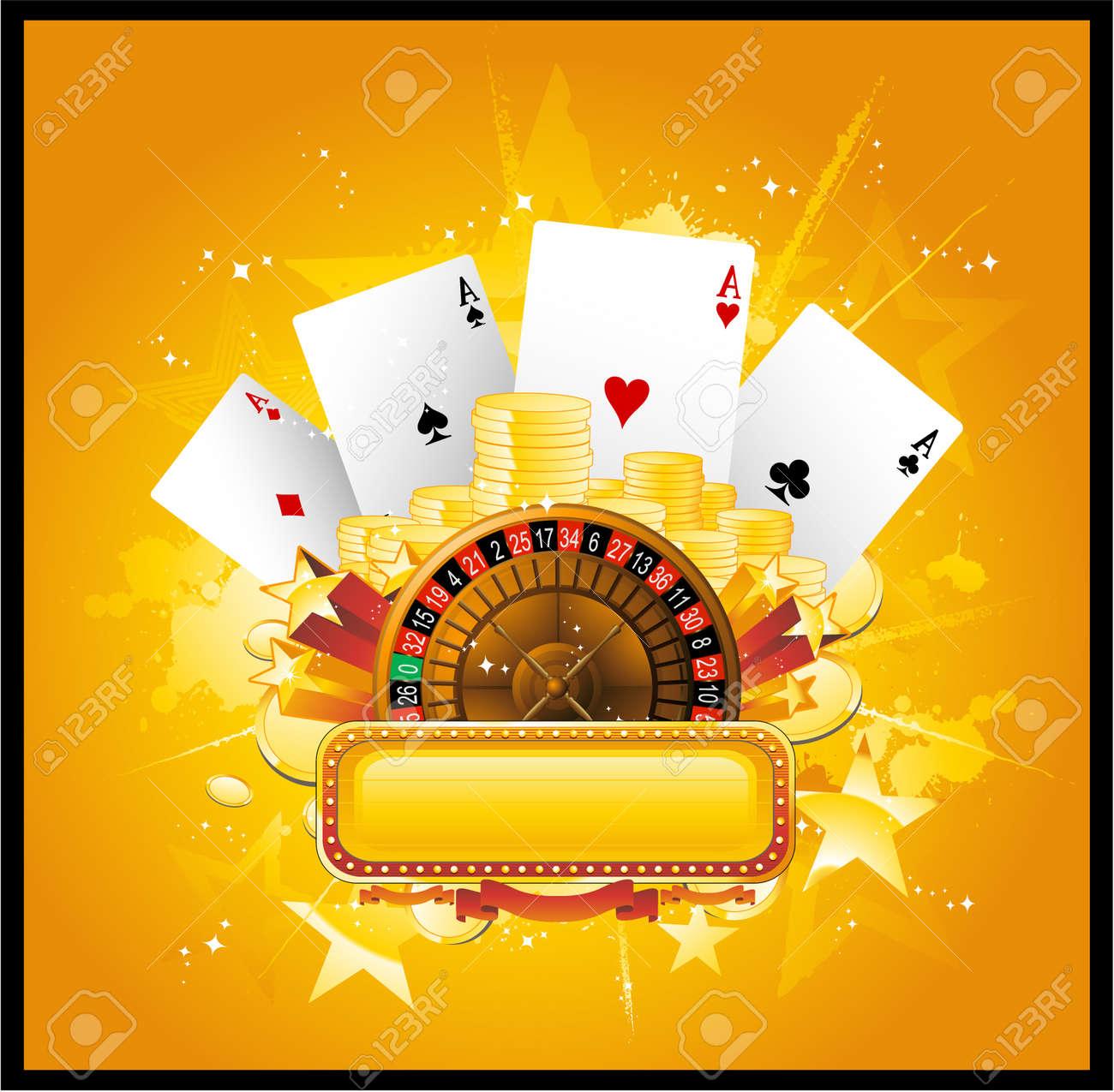 Casino poker neon sign Stock Vector - 8651339