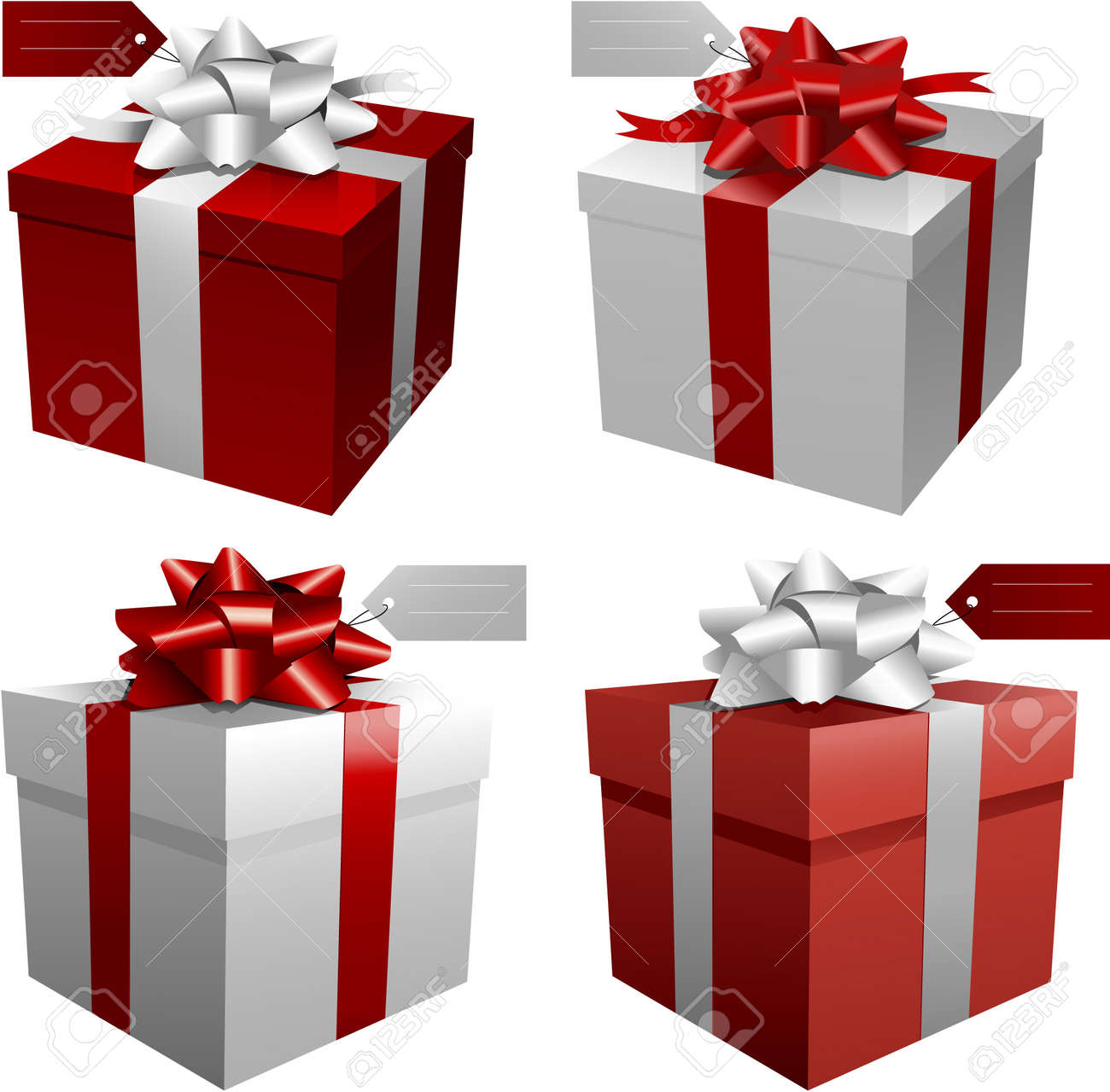 Red Christmas Gift Boxes Royalty Free Cliparts, Vectors, And Stock ...