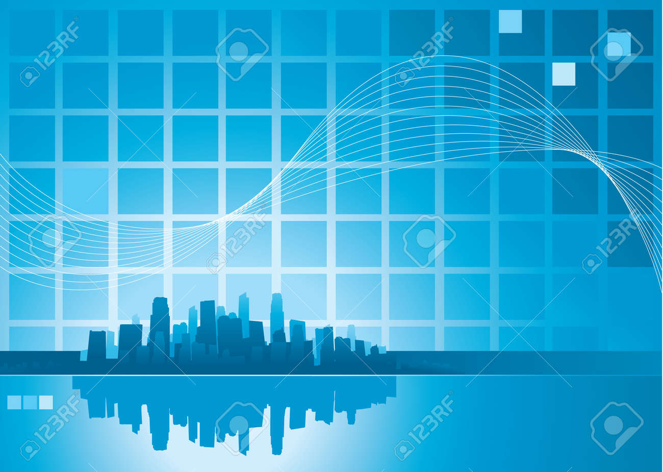 abstract city background Stock Vector - 8698031