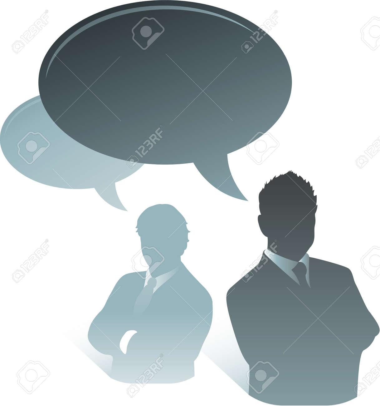 business communication talking bubbles Stock Vector - 8692975