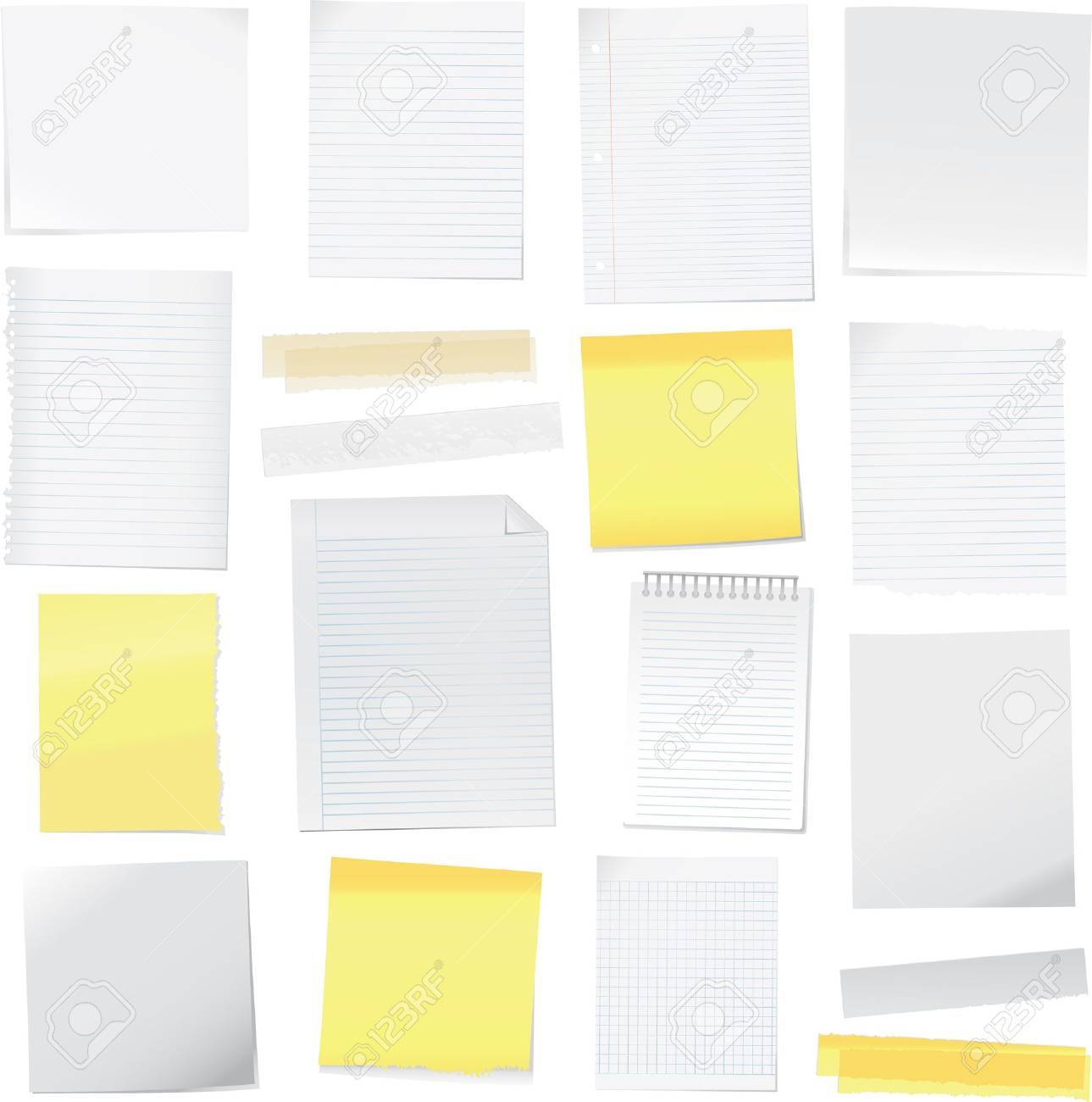 paper notes illustration Stock Vector - 8692976
