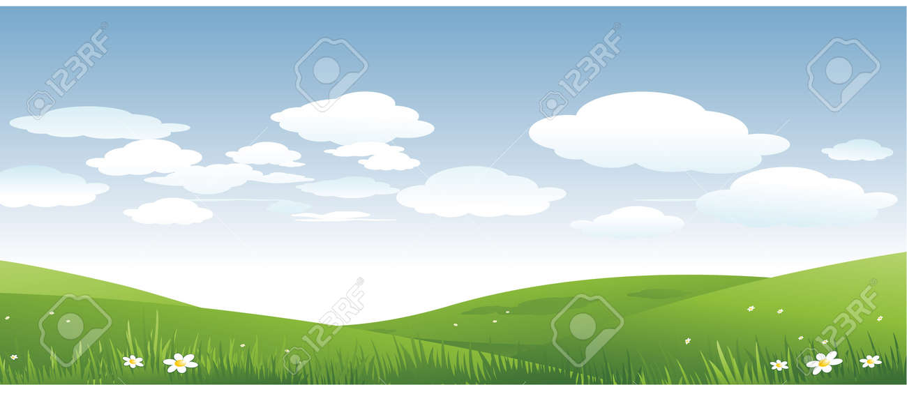 nature spring landscape Stock Vector - 8692903