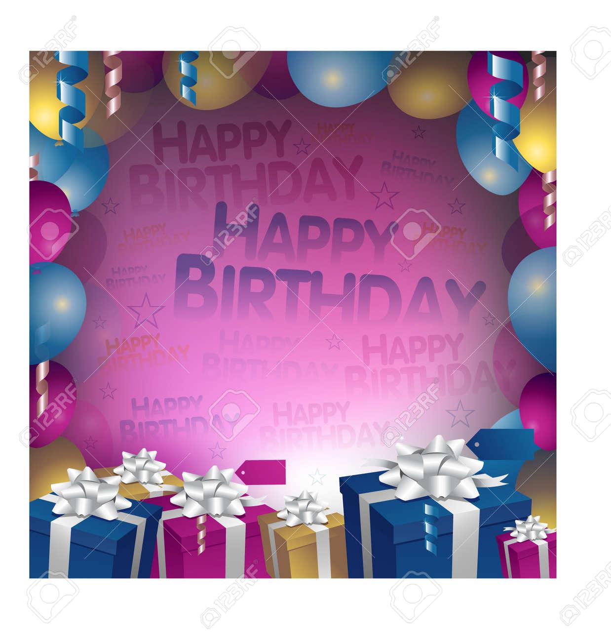 happy birthday background Stock Vector - 8689814