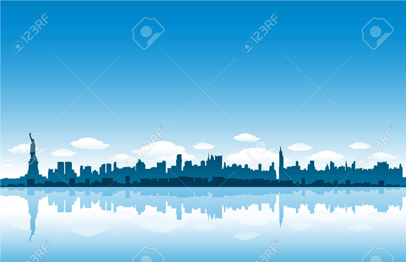 new york city skyline Stock Vector - 8689572