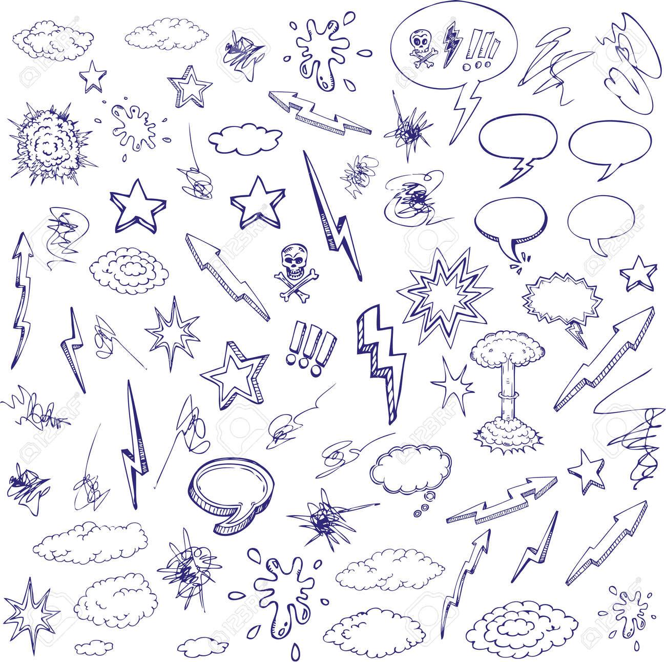 hand drawn cartoon design Stock Vector - 8688213