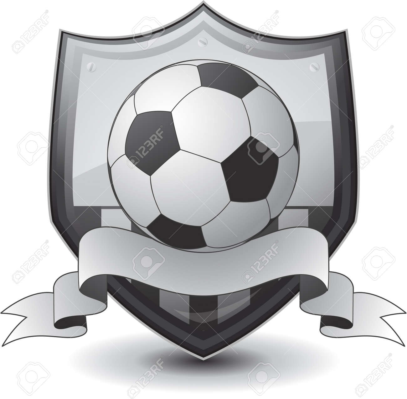 shield soccer emblem Stock Vector - 8683380