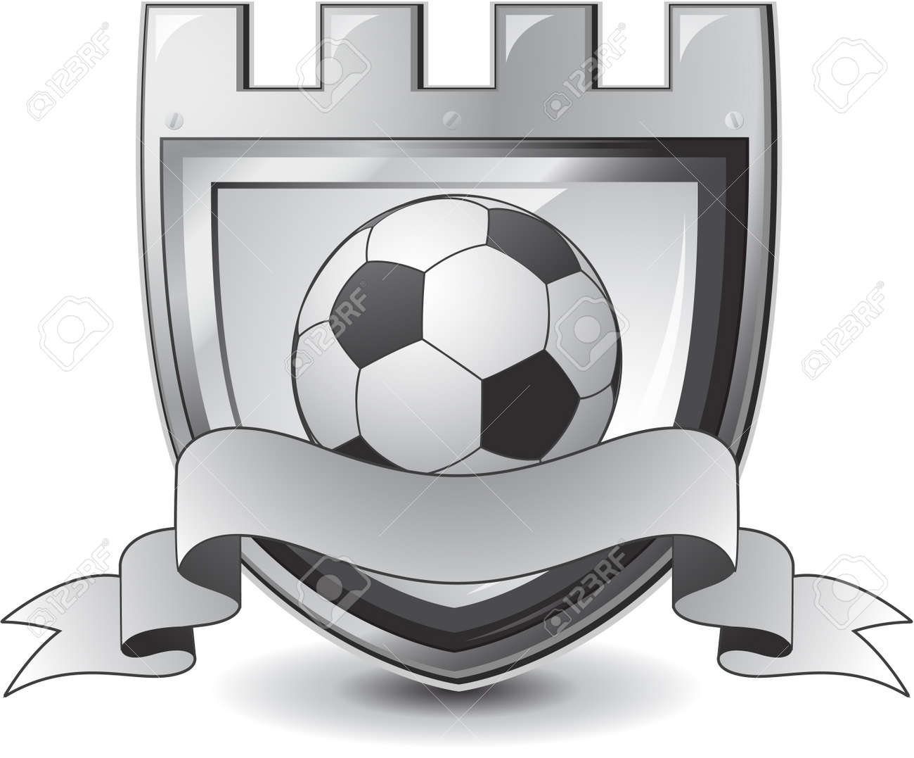 soccer emblem Stock Vector - 8683375