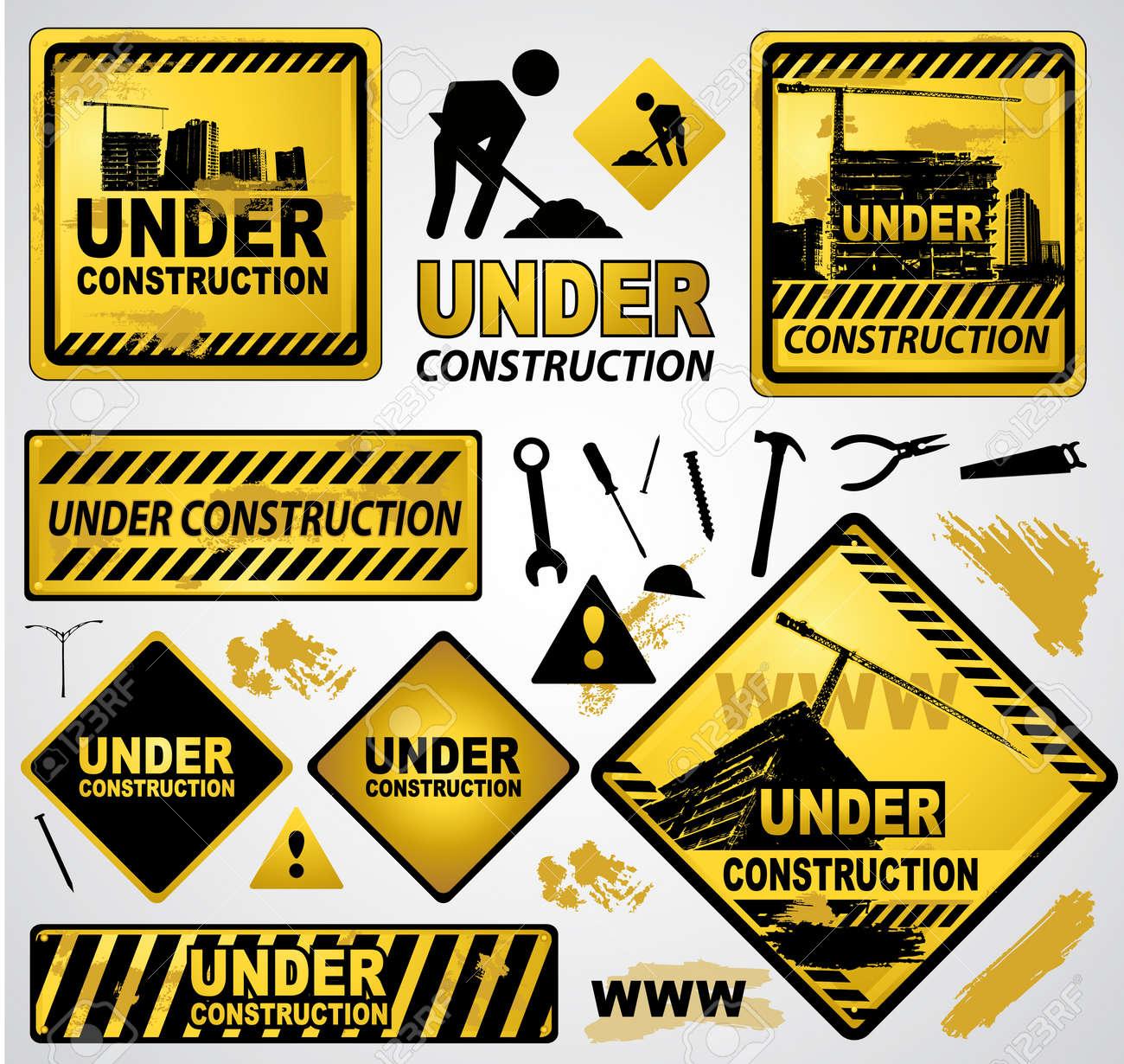 under construction Stock Vector - 8785095