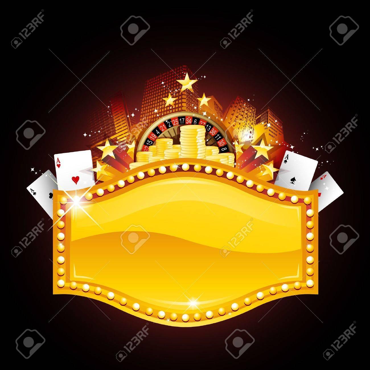 Casino placard Stock Vector - 9477441